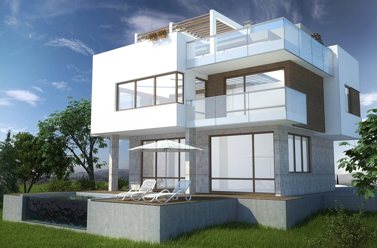 Architectural design project for a family house mizar for Architecture 54