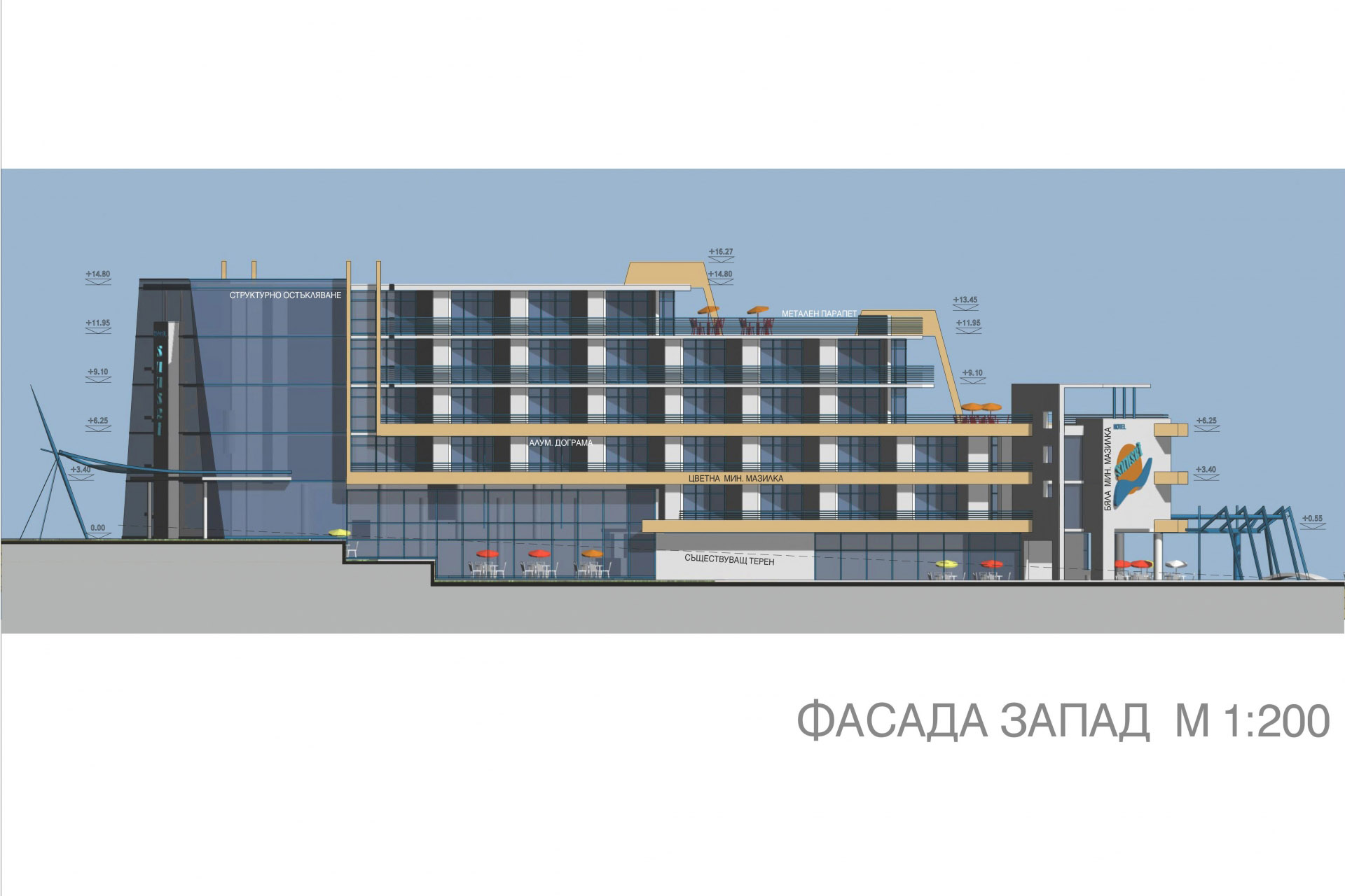 Architectural project sunset resort hotel sunny beach for Designhotel 54
