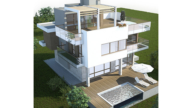 Architectural design for a family house; Mizar, Sozopol