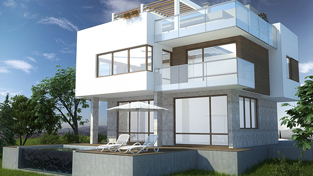 Architectural design for a family house; Mizar, Sozopol - Проектирано от VERTIKALI - Architectural and interior design