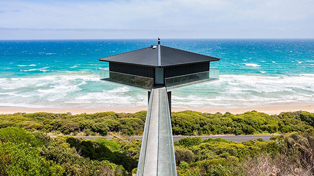 Тази Невероятна Къща В Австралия изглежда, че лети над морето