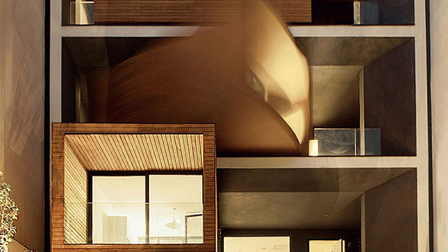 Една невероятна къща в Техеран, чиито стаи се въртят на 90°