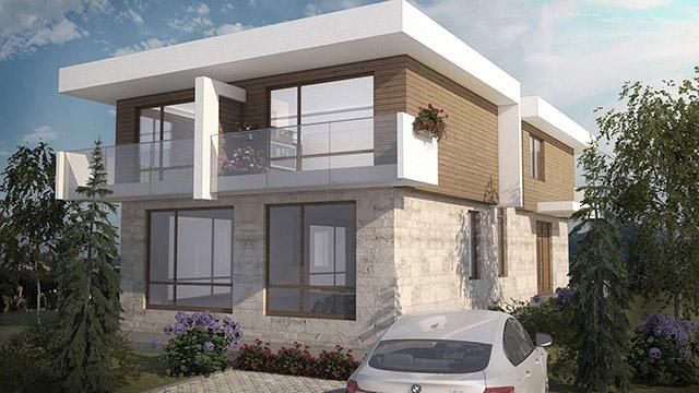 Архитектурен проект за Еднофамилна къща, в.з.Минерални бани, гр. Бургас - Проектирано от ВЕРТИКАЛИ - Архитектурно и интериорно проектиране