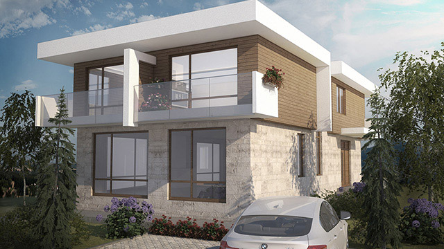 Architectural design project for a family house; Mineralni Bani, Burgas - Проектирано от VERTIKALI - Architectural and interior design