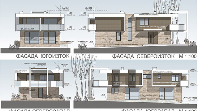 Architectural design project for a family house; Mineralni Bani, Burgas
