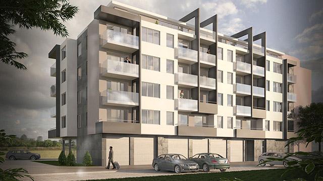 Архитектурен проект на Жилищна сграда, гр. Поморие - Проектирано от ВЕРТИКАЛИ - Архитектурно и интериорно проектиране