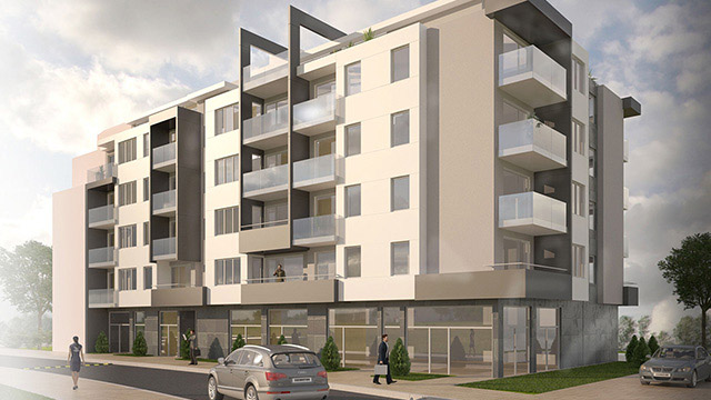 Architectural project of a residential building in Pomorie