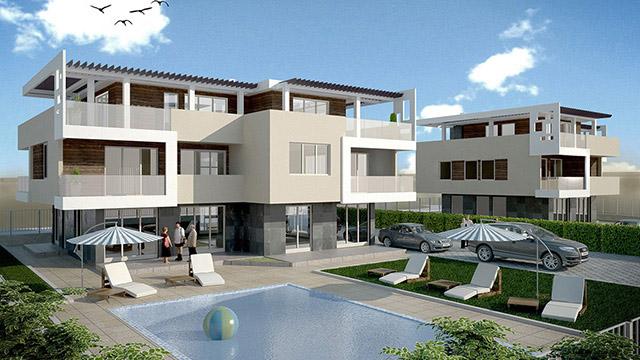 Архитектурен проект на Жилищни сгради, гр. Поморие - Проектирано от ВЕРТИКАЛИ - Архитектурно и интериорно проектиране