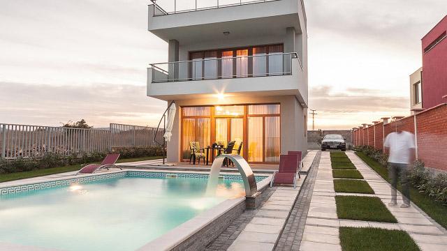Архитектурен проект на Еднофамилна къща м.Аклади гр.Черноморец - Проектирано от ВЕРТИКАЛИ - Архитектурно и интериорно проектиране