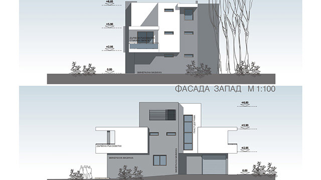 Architectural project for a family house; Akladi, Chernomorets