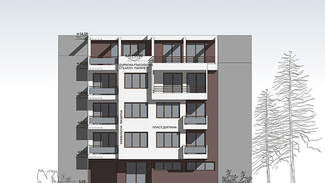 Architectural project for a residential building; Cherno More, Nessebar