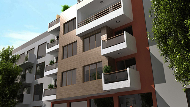 Architectural project for a residential building; Cherno More, Nessebar - Проектирано от VERTIKALI - Architectural and interior design