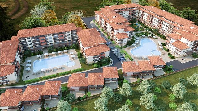 Архитектурен проект на жилищни сгради, гр.Ахелой, обл. Бургас - Проектирано от ВЕРТИКАЛИ - Архитектурно и интериорно проектиране