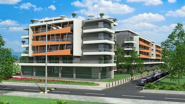 """Ваканционен комплекс """"Камелия""""4, к.к. Слънчев бряг - Проектирано от ВЕРТИКАЛИ - Архитектурно и интериорно проектиране"""