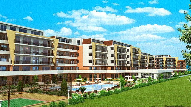 "Architectural project of a holiday complex ""Grand Kamelia""; Sunny Beach"