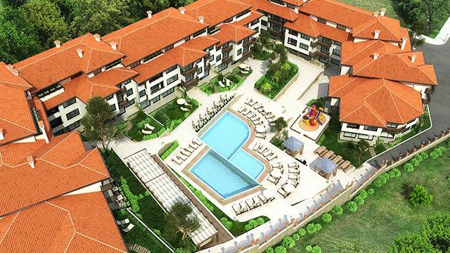 Архитектурен проект на Ваканционен комплекс, местност Бостанлъка, Несебър - Проектирано от ВЕРТИКАЛИ - Архитектурно и интериорно проектиране
