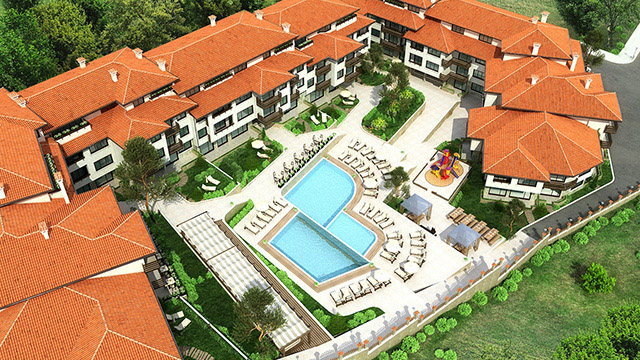 Architectural project of a holiday complex; Bostanlaka, Nessebar - Проектирано от VERTIKALI - Architectural and interior design