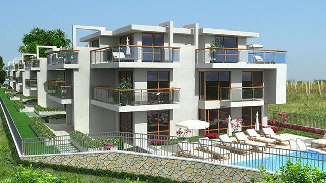 Архитектурен проект на Комплекс – Вилни сгради, м. Лахана, гр.Поморие - Проектирано от ВЕРТИКАЛИ - Архитектурно и интериорно проектиране