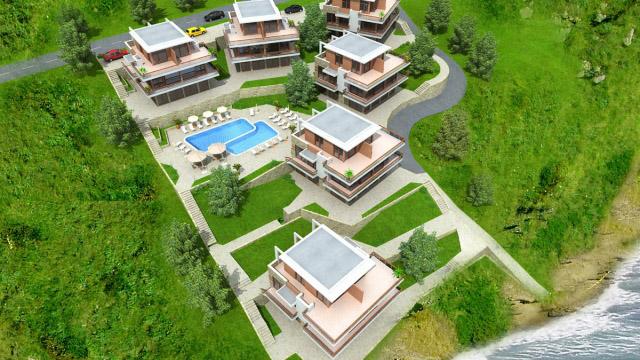 Архитектурен проект на Жилищен комплекс, местност Буджака, Созопол - Проектирано от ВЕРТИКАЛИ - Архитектурно и интериорно проектиране