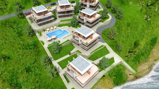 Architectural project of a residential complex; Budjaka, Sozopol - Проектирано от VERTIKALI - Architectural and interior design