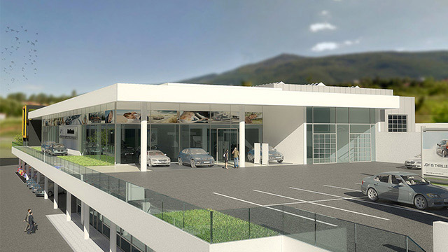 "Architectural project of a auto service and showroom for ""BMW""; Sofia"