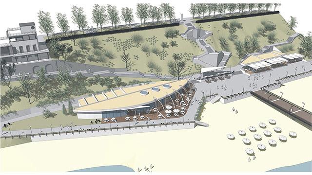 Мостик и Приморски парк, гр. Бургас - конкурсен проект - Проектирано от ВЕРТИКАЛИ - Архитектурно и интериорно проектиране