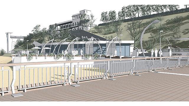 Мостик и Приморски парк, гр. Бургас - конкурсен проект