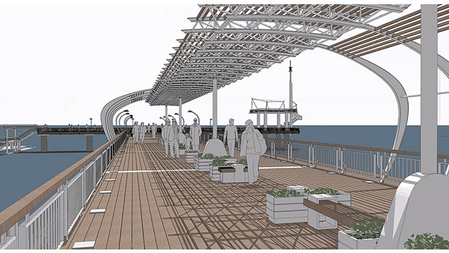 The Bridge and Seaside Park; Burgas - competition project