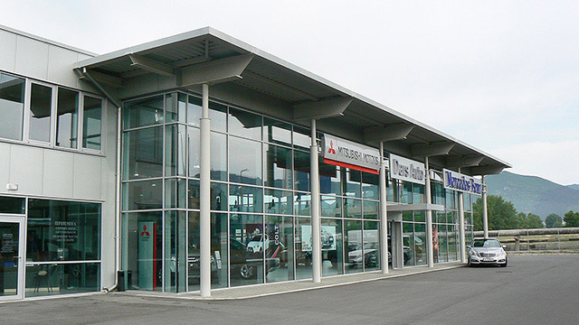 Showroom and service center for Mercedes-Benz; Sliven
