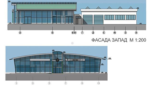 """Архитектурен проект на Автосервиз и шоурум на """"Шкода"""", Бургас"""