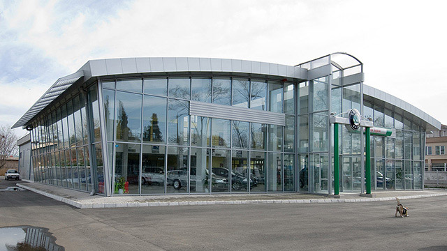 "Architectural project of a Service Center and Showroom for ""Skoda""; Burgas - Проектирано от VERTIKALI - Architectural and interior design"
