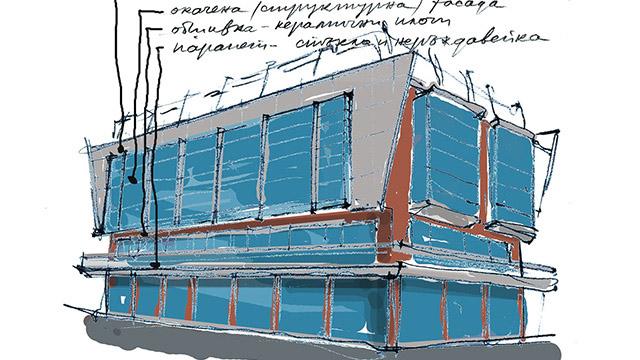 архитектурный дизайн торгового центра, курорт Солнечный берег