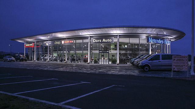 Архитектурен и интериорен проект на автосервиз и шоурум на Мерцедес-Бенц, Бургас - Проектирано от ВЕРТИКАЛИ - Архитектурно и интериорно проектиране