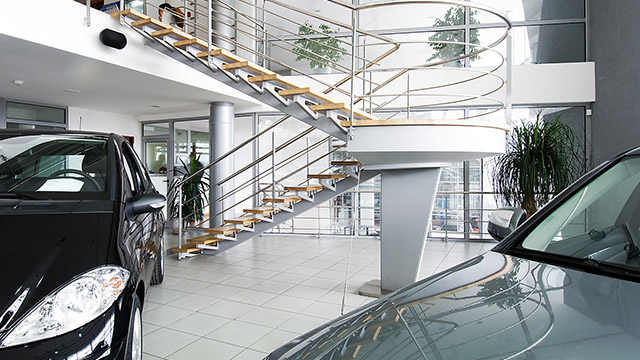 Architectural and interior project for the showroom and service of Mercedes-Benz; Burgas