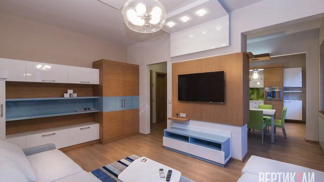 Интериорен дизайн на апартамент, гр.Бургас, център - Проектирано от ВЕРТИКАЛИ - Архитектурно и интериорно проектиране