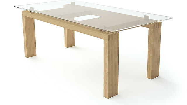 "Dining table of solid wood - ""MOOD-WOOD"" - Проектирано от VERTIKALI - Architectural and interior design"
