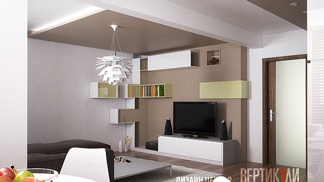 Interior design for apartment; Burgas - Проектирано от VERTIKALI - Architectural and interior design