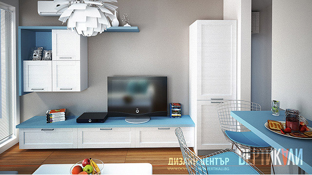 Interior design of small apartment, Sunny Beach