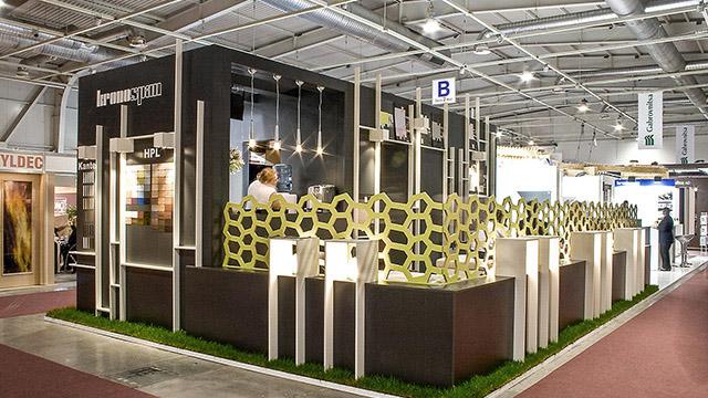 """Дизайн на изложбен павилион – """"Kronospan"""" (Техномебел 2010) - Проектирано от ВЕРТИКАЛИ - Архитектурно и интериорно проектиране"""
