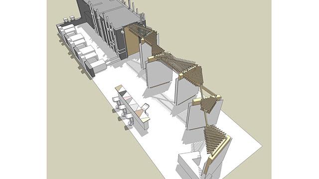 "Дизайн на изложбен павилион – ""Kronospan"" (Техномебел 2010)"