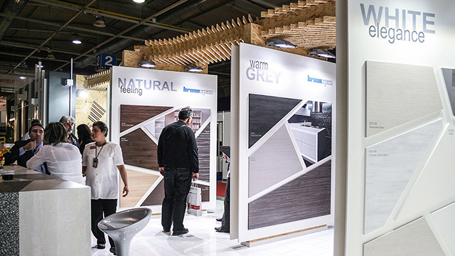 "Design for a exhibition pavilion for ""Kronospan"" Technomebel 2010"