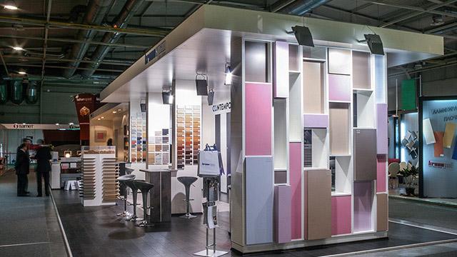 Дизайн на Изложбен павилион – Kronospan (Техномебел 2009) - Проектирано от ВЕРТИКАЛИ - Архитектурно и интериорно проектиране