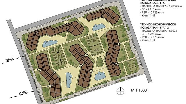 Идейно проучване на застроително решение, с. Ахелой - Проектирано от ВЕРТИКАЛИ - Архитектурно и интериорно проектиране