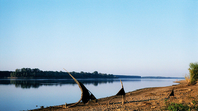 Dunav river, near by Lom