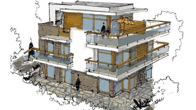 Архитектурни скици - Проектирано от ВЕРТИКАЛИ - Архитектурно и интериорно проектиране