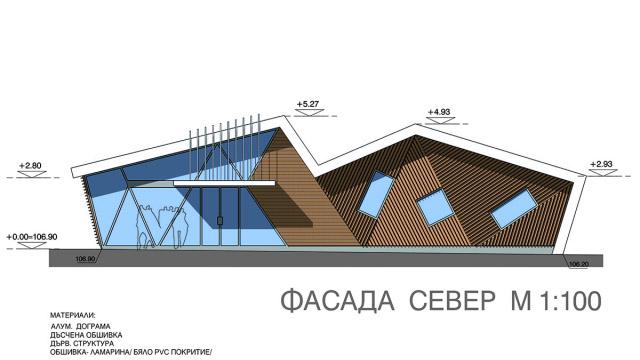 Архитектурен проект на сграда - закрита автобусна спирка и компютърен клуб, с. Кошарица