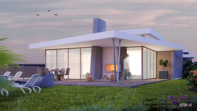 Архитектурен проект на двуфамилна жилищна сграда, кв.Лозово, гр.Бургас - Проектирано от ВЕРТИКАЛИ - Архитектурно и интериорно проектиране