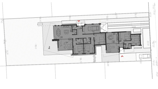 Architectural project of multi family house building in Burgas, Lozovo