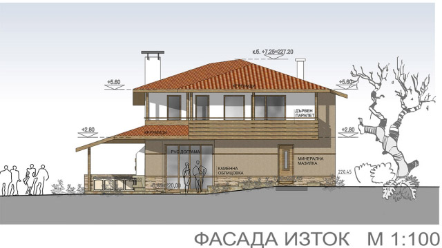 Architectural design for family house,village Kozichino