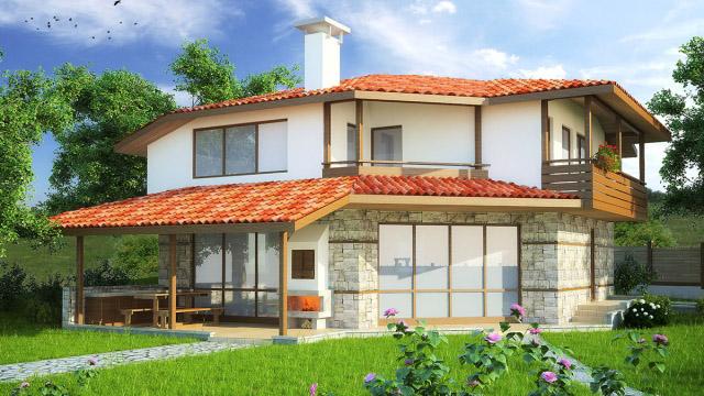 Архитектурен проект на еднофамилна къща, с.Козичино обл. Бургас - Проектирано от ВЕРТИКАЛИ - Архитектурно и интериорно проектиране